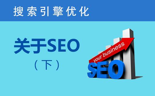 搜索引擎优化之关于SEO下