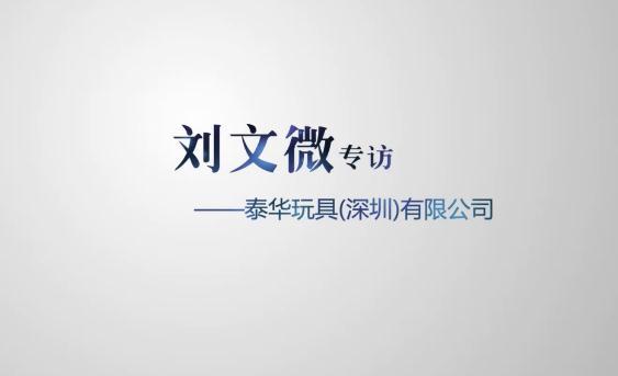 泰华玩具有限公司-刘文微专访
